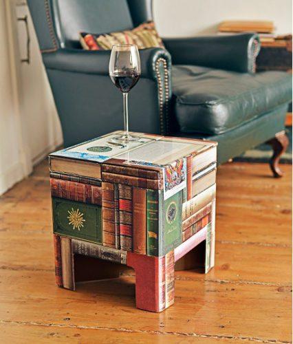 Books dutch design chair a bookprint cardboard stool for Dutch design chair karton