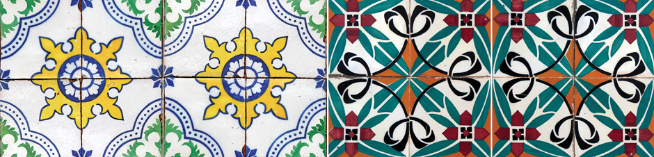 Portuguese Tiles Kerst servetten