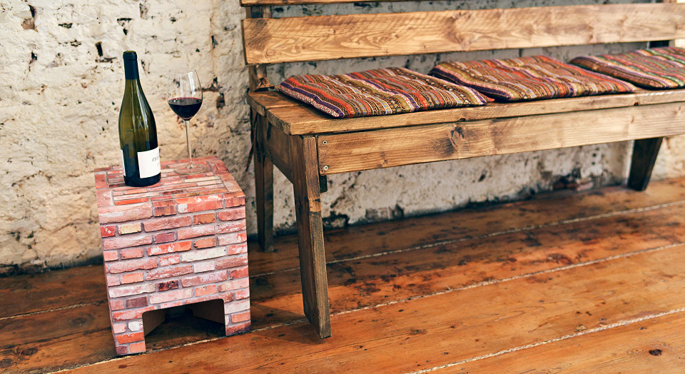 Dutch Design Chair woodstack Brick