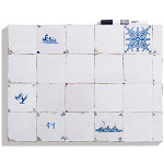 Whiteboard Dutch tiles