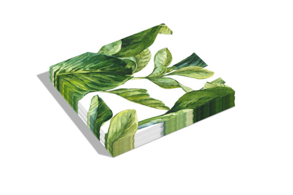 Papieren servetten Green leaves