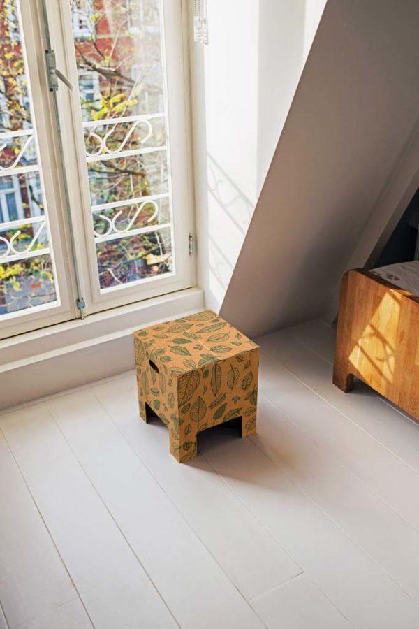Dutch Design Chair Natural leaves Raam