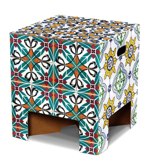 kartonnen krukje Portuguese tiles