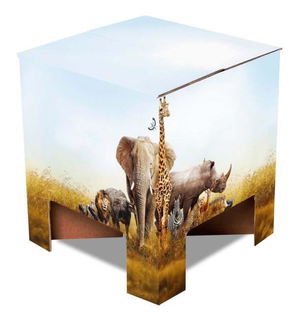 Duurzaam krukje karton Safari