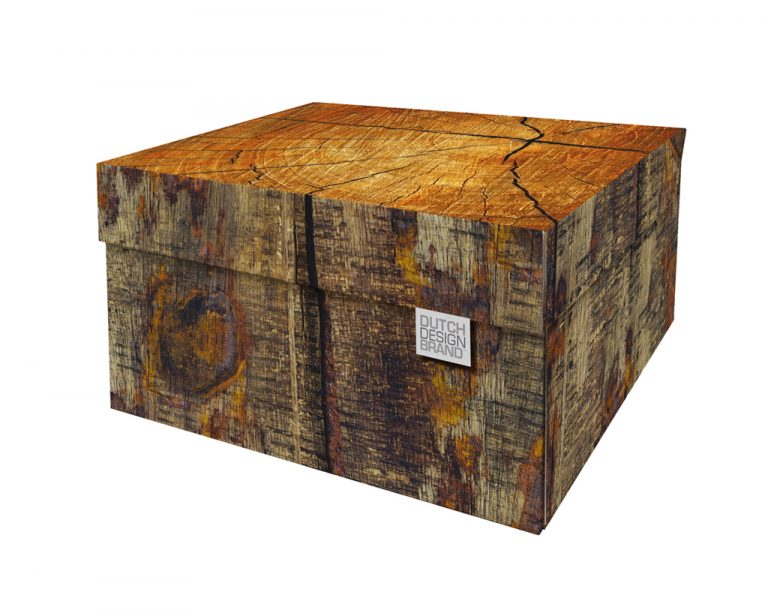 Tree Trunk Storage Box