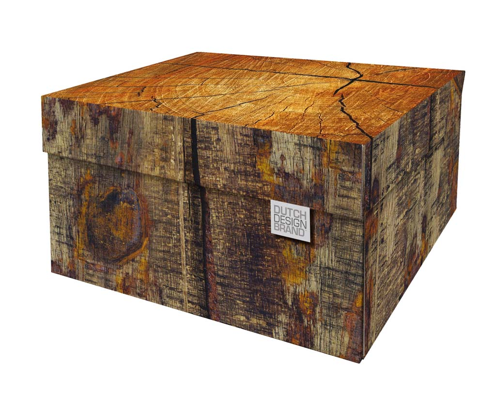 Tree Trunk Storage Box