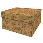 Dutch Design Storage Box Christmas Natural Leaves