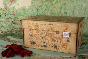 Dutch Design Storage Box Ancient World Map