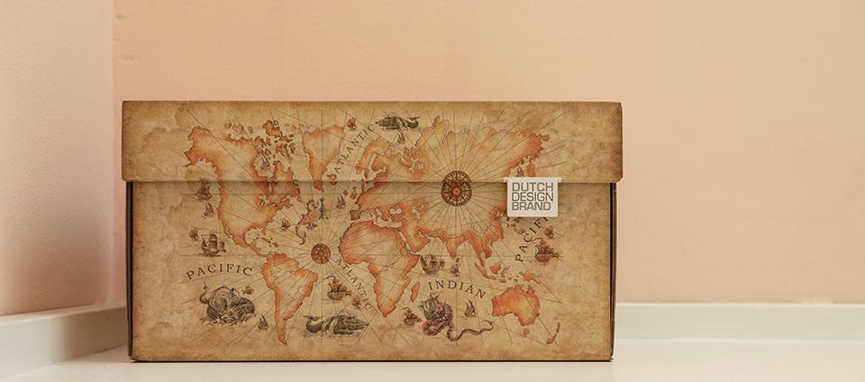 Ancient World Map Storage Box