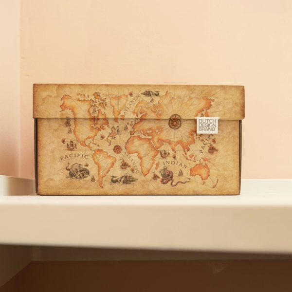 Dutch Design Storage Box Ancient World Map