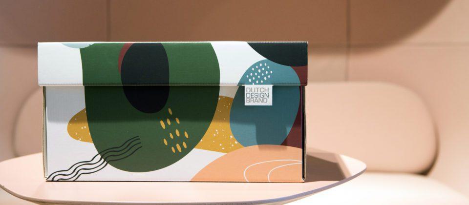 NEW Dutch Design Storage Box Kerst Doodles